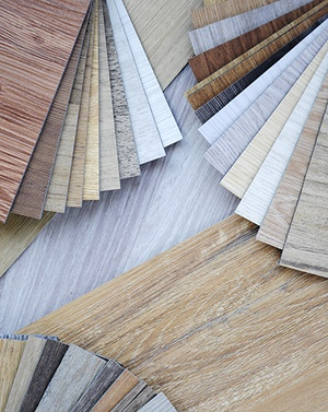 Waterproof flooring product samples